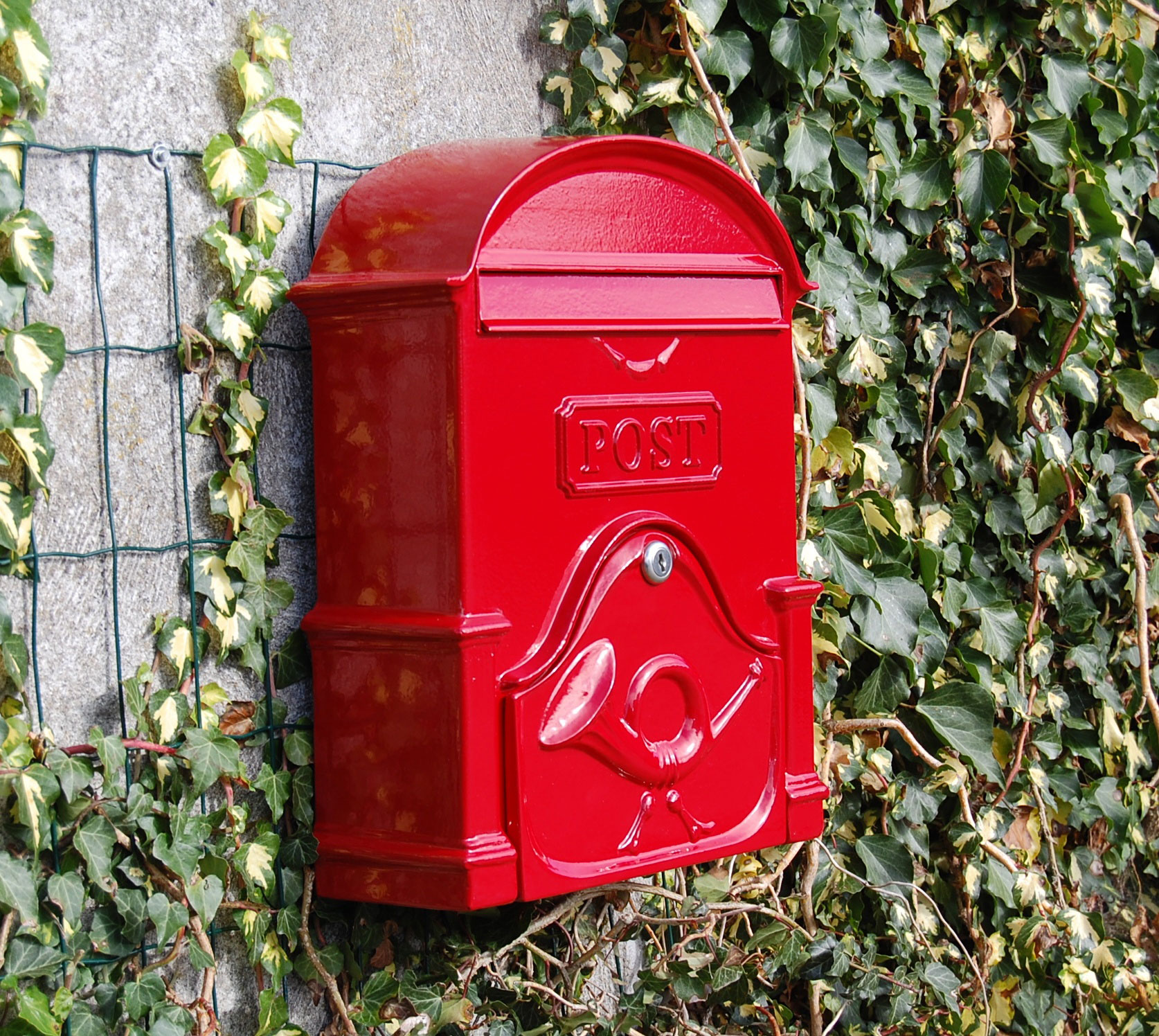 The Moy A4 Deep Post Box - Ruby Red